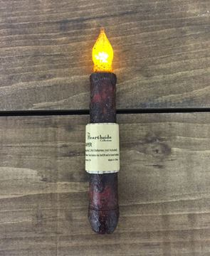 Picture of Burnt Burgundy Led Battery Candle Light Taper