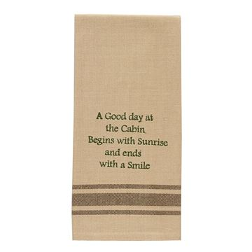 Picture of A Good Day At The Cabin Decorative Towel