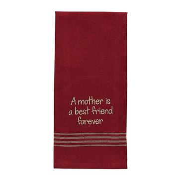Picture of A Mother Is A Best Friend Decorative Towel