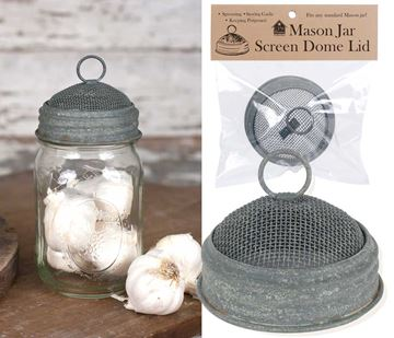 Picture of Screen Dome Mason Jar Lid