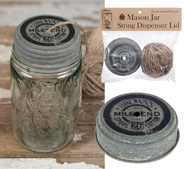 Picture of String / Twine Dispenser Mason Jar Lid