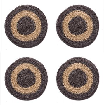 Picture of Grayson Braided Braided Coaster Round - Set Of 4