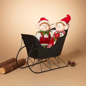 "Picture of Black Metal Sleigh 28"" Long"
