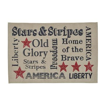 "Picture of Old Glory Printed Stars And Stripes Rug 24"" X 36"" Rectangle"