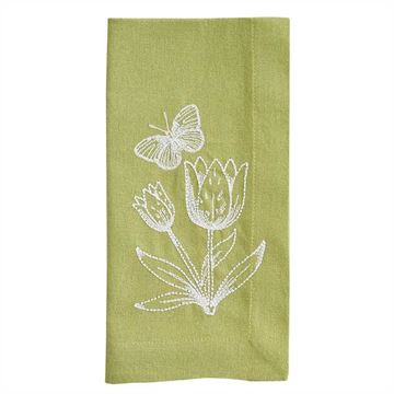 Picture of Abby's Garden Embroidered Napkin