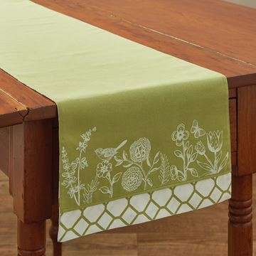 "Picture of Abby's Garden Table Runner 36"" Long"