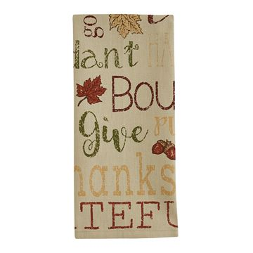 Picture of Harvest Sentiments Printed Dishtowel