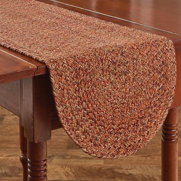 "Picture of Allspice Braided Table Runner 54"" Long"