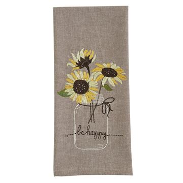 Picture of Be Happy Decorative Towel