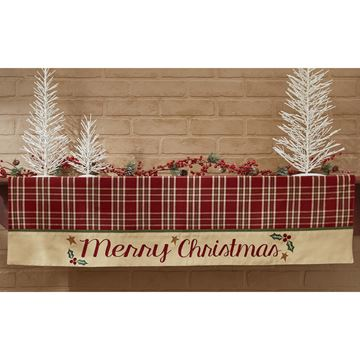 Picture of Merry Christmas Border Mantle Scarf  / Valance