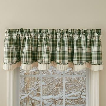 Picture of Cedarberry Layered Valance Lined