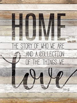 Picture of Home Story By Marla Rae Art Print - 12 X 16