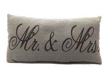 "Picture of Mr & Mrs. Mini Pillow 6"" X 12"""