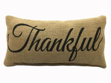 "Picture of Thankful Mini Pillow 6"" X 12"""
