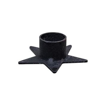 Picture of Black Iron Flat Star - Small Candle Holder For Taper