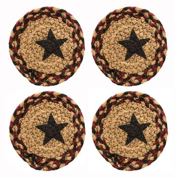 Picture of Blackberry Star Braided Coaster Round - Set Of 4