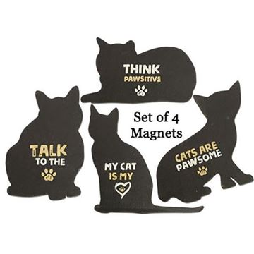 Picture of Cat Magnet - Set Of 4 - Assorted