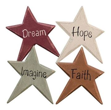 Picture of Colorful Star Inspirational Word Magnet - Set Of 4 - Assorted