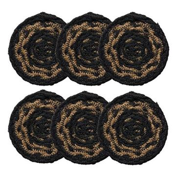 Picture of Farmhouse Braided Coaster Round - Set Of 6