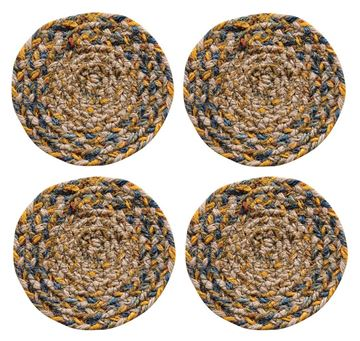 Picture of Plantation Braided Coaster Round - Set Of 4