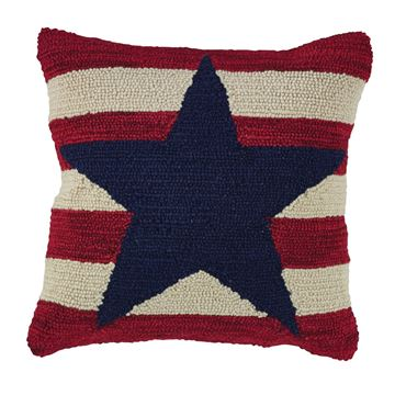 "Picture of American Star Hooked Pillow 18"" X 18"""