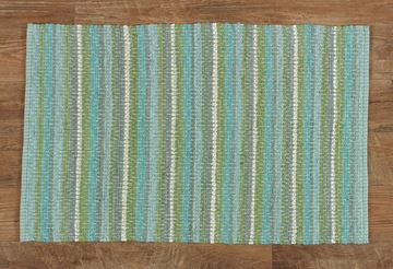 "Picture of Ambrosia In Aqua Rag Rug Rectangle 24"" X 38"""