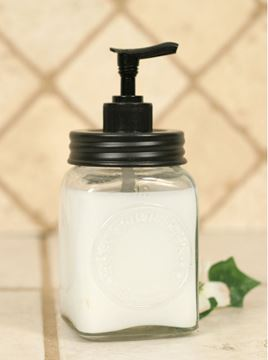 Picture of Mini Dazey Butter Churn Glass Jar Soap / Lotion Dispenser