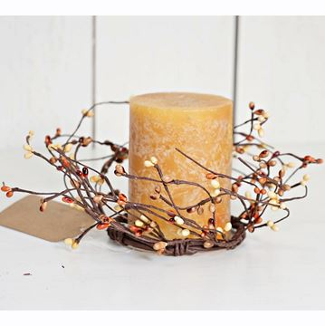 "Picture of Pip Berry - Pumpkin Spice Candle Ring / Wreath 3.5"" Inner Diameter"