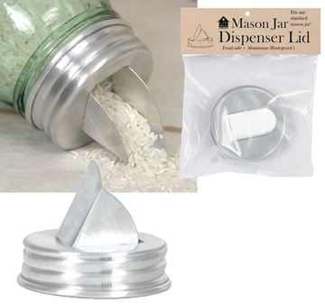 Picture of Aluminum Grain Dispenser Mason Jar Lid