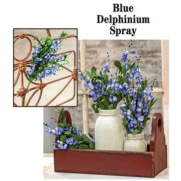 "Picture of Blue Delphinium Pick / Spray 21"" High"