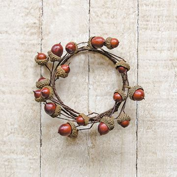 "Picture of Acorn Candle Ring / Wreath 3.5"" Inner Diameter"